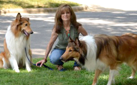 Christie with her dogs